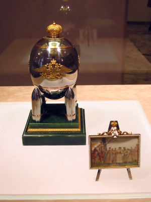 Faberge Steel Military Egg