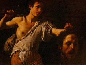 David with the Head of Goliath, Caravaggio (the severed head a self portrait)